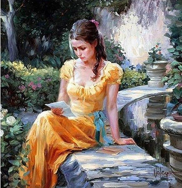 дама с письмом